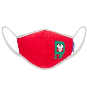Disney Spirit Jersey Holiday Red Adult Face Mask L